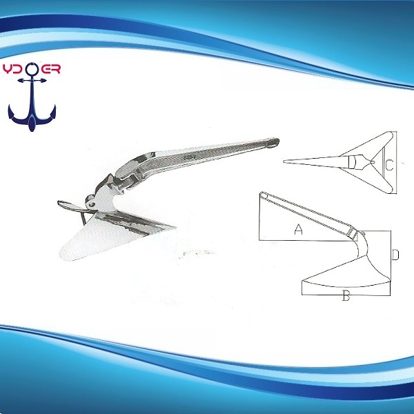 Hot Dip Galvanized and AISI 316 Stainless Steel Plough Anchor