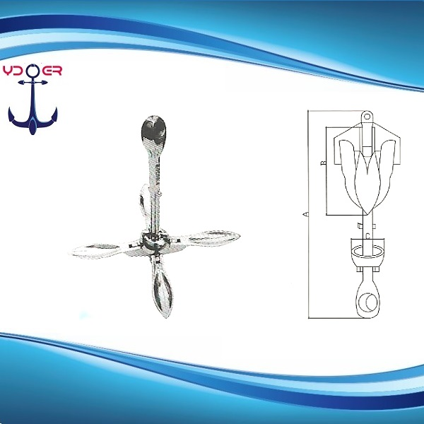 AISI 316 Stainless Steel Folding Anchor